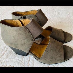 Natural Soul Low Heel Open Toe Boot/Sandal NWOT